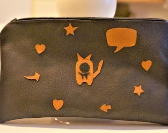 bag, case, Brown leatherette 20 * 11, 5 cm