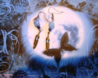 Seagull wings earrings