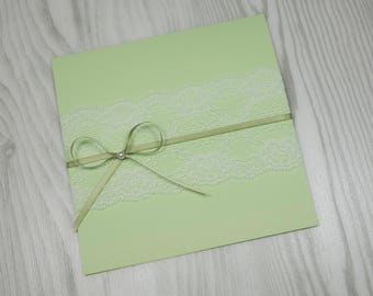 Invitation card with lace
