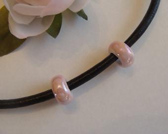 Set of 2 pearls pink(Roses) ceramic pink 13