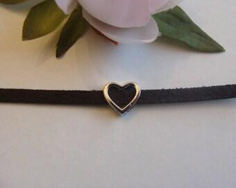 heart shape bead width 1 cm diameter hollow