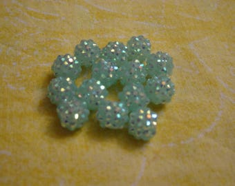 1 bead shambhala turquoise pale 10 mm