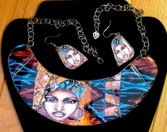 """Necklace set. Style is called """"Panoramic"""". Pattern is called """"Color"""""""