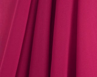 """60"""" Wide - High Quality 100% Polyester Chiffon Sheer Fabric - HOT PINK"""