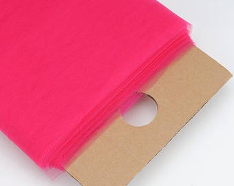 """54"""" Wide x 40 Yards (120feet) Tulle Bolt for Weddings, Decoration, Apparel and Crafts - FUCHSIA"""