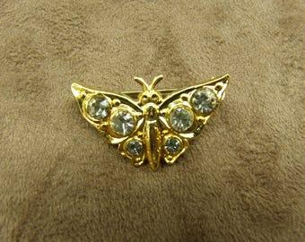 pretty - gold METAL rhinestone BROOCH
