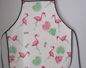 lime green kitchen child 7-10 years of canvas oilcloth apron