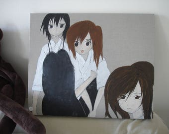 manga painting done in acrylic paint