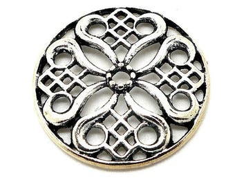 print or metal flower connector