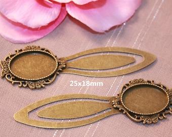 Bookmark Bronze cabochon 18x25mm - SC39841 - 10