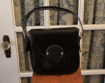 1970's Faux Alligator Skin Handbag