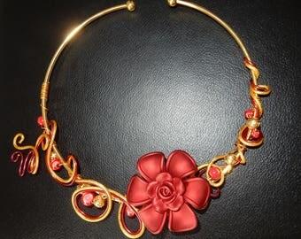"Elegant Choker ""flower"" the ideal for evening, wedding, party, dance..."