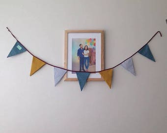 Fabric Garland with 7 flags
