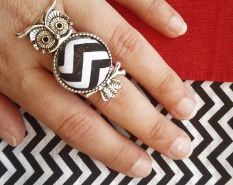 OWL ring Bob Twin Peaks zig zag Black Lodge Laura Palmer