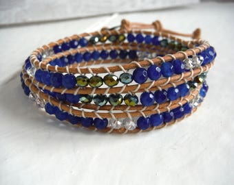 chan luu bracelet blue agate type/wrap bracelet