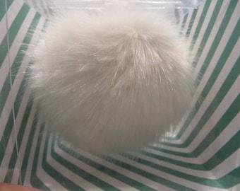 Pompom fake fur, 5cm diameter, nature