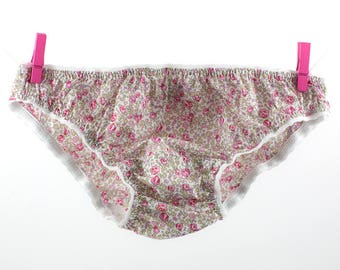 Panties  in Liberty Eloïse pink for little girls from 2 to 10 years old.