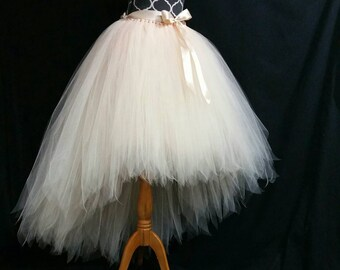 HI LO Tutu Skirt Halloween Orders Available Fully LINED Champagne