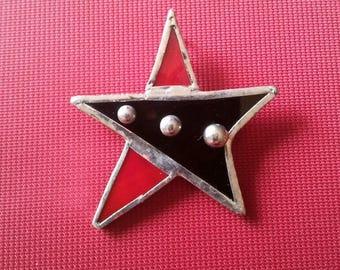 Black and Red Star pendant original
