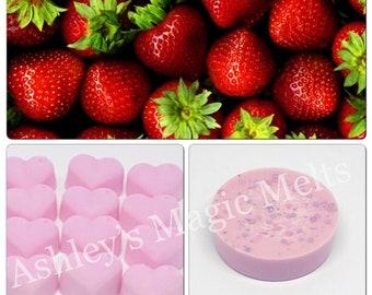 Strawberry wax melts, scented soy wax melts, fruity wax melts, cheap wax melts, strong wax melts, wax cubes, wax tart melts