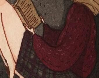 Reading girl - giclee print