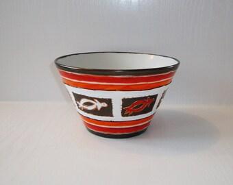 medium size bowl porcelain turtle hand painted