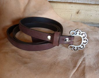 Beautiful thin Brown belt buckle