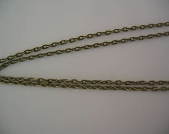 Chain 3x4mm bronze lead and nickel (CH002)