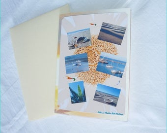 """Double """"Holiday"""" made from sea Céline Photos Art Nature photo card"""