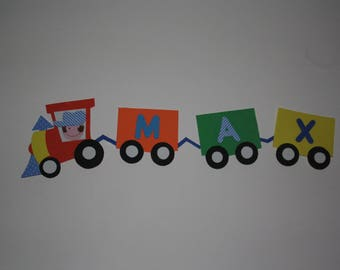Train foam to assemble with your child's name