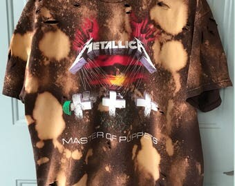 Bleached & Ripped Metallica Master of Puppets Shirt