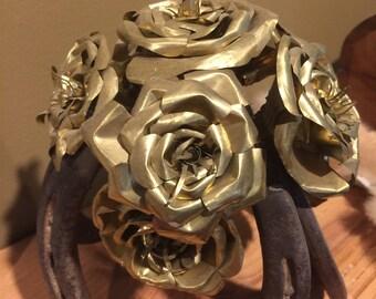 Metal flower bouquet