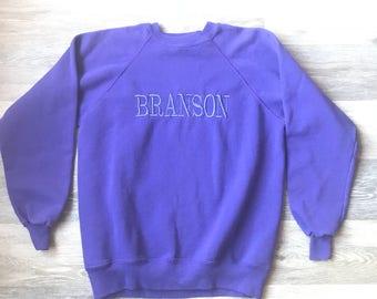 Vintage Purple BRANSON, Missouri Sweatshirt