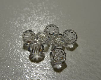 Bicone 6 mm x 20 Crystal