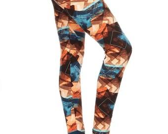 Funky Orange/Brown Leggings