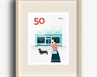 Art Print - Stamp / Paris