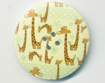 Large fancy giraffe button