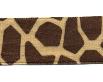 Ribbon fantasy skin of 38 mm Brown giraffe C002