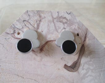 Earrings silver and agate, mother of Pearl or onyx
