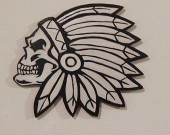 Decorative wall Indian skull head