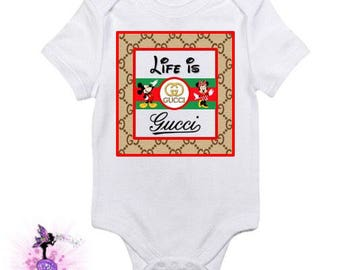 Life Is  Onesie With Mickey and Minnie Mouse Birthday Party Keepsake | Designer Inspired