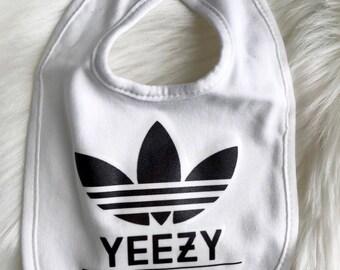 Yeezy Originals Baby Bib | Designer Inspired Bib | Baby Accessory | Baby Burp Cloth