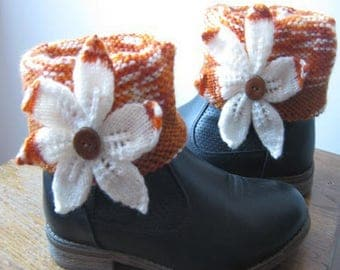 Arm warmers for boots with flower