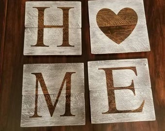 Home sign reclaimed wood sign