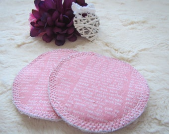 Reusable Breast Pads,Be Strong,Nursing Mom,Nursing Pads,Bamboo Breastpads,Pink,Inspiration,Reusable Pads,Breastfeeding,Baby Shower Gift