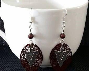 """""""Indian arrow"""" earrings 7.5 cm"""