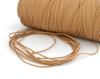 Beige 0.5 mm polyester cord