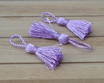 3 bright purple PomPoms 5.5 cm