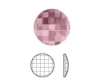 Cabochon Element® 2035 Chessboard circular FB - 10 mm - Crystal Antique Pink Swarovski M - CABSW2017ARO0672