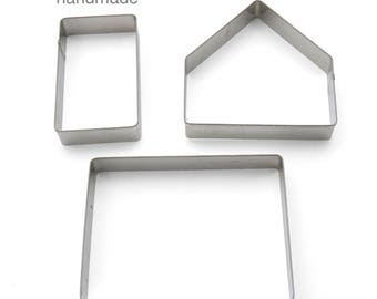 Gingerbread house small cookie cutter set